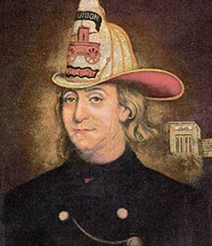 Benjamin Franklin, The Fireman, Charles Washington Wright, 1850