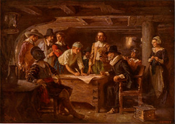 Jean Leon Gerome Ferris, Mayflower Compact, 1932, Library of Congress