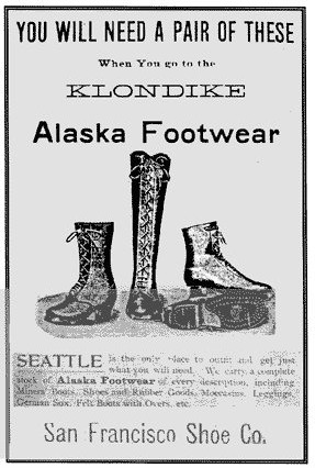 Klondike Advertisement, early 20th century, National Park Service