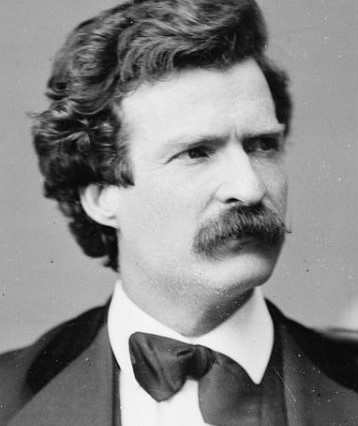 Mark Twain, photo by Mathew Brady, 1871