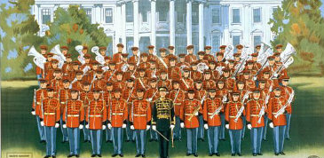 The United States Marine Band at the White House, c. 1928, White House
