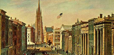 View of Wall-Street, c. 1850